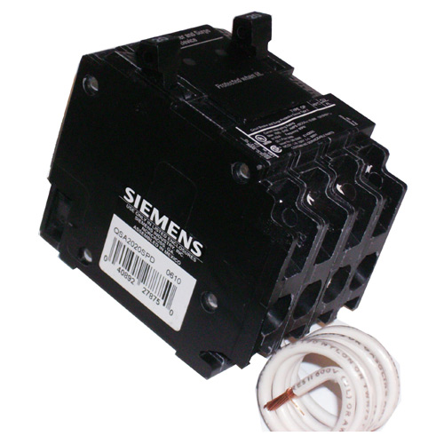 Surge Breaker Single Pole - 2x 20 A / 120 V - Black