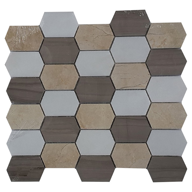 Marble Wall Tiles - Stone Mosaic - 5/Box