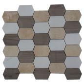 Tuiles de marbre, mur, mosaïque de pierre, 5/boite