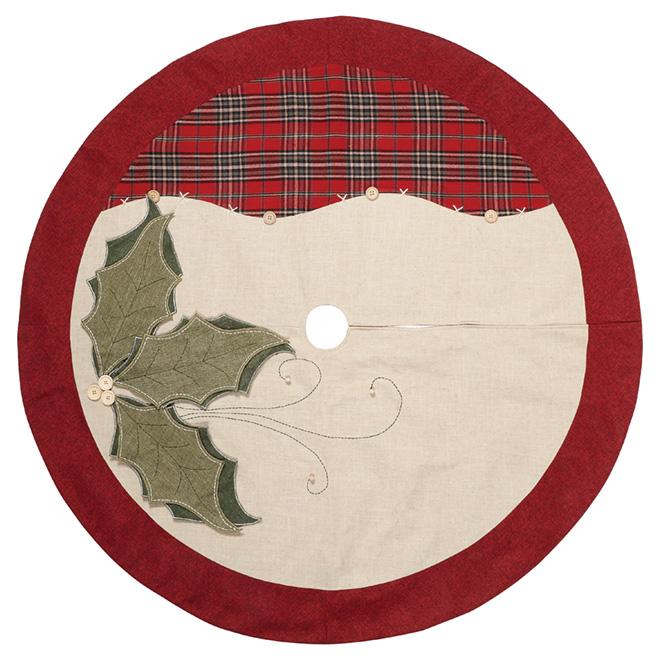 """Christmas Tree Skirt - 56"""" - Green/Red/White"""
