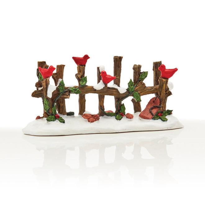Clôture pour village de Noël, 7,2 cm x 2,7 cm x 4 cm