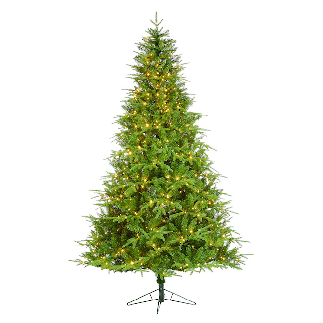 Holiday Living 7.5-ft Pre-Lit Artificial Christmas Tree with 900 Multi-Functions Colour-Changing LED Lights