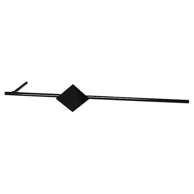 Adlee Sand Anchor - Steel - 2 Reinforcement Plates - Black Finish