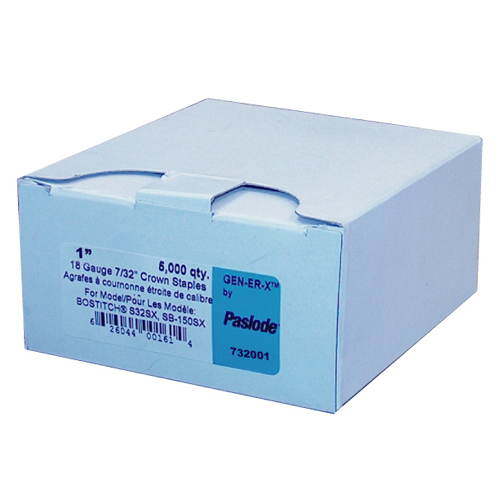 "Staples - 18GA - 7/32"" Crown - 1"" - 5000/Box"
