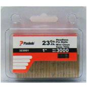 "Pin Nails - Headless - Strip - 23GA - 1"" - 3000/Box"