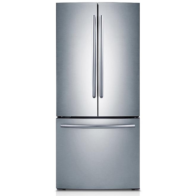 """Réfrigérateur à portes françaises Samsung, 30"""", 21,6 pi³ inox"""