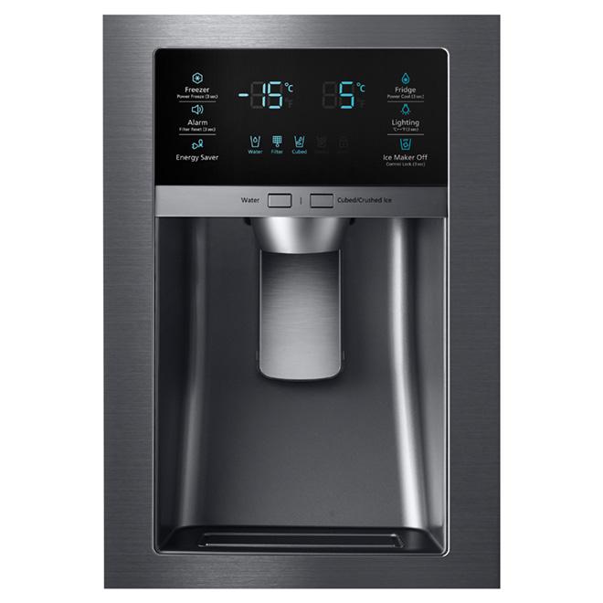 """French Door Refrigerator - 33"""" - 24.7 cu. ft. - Black Steel"""