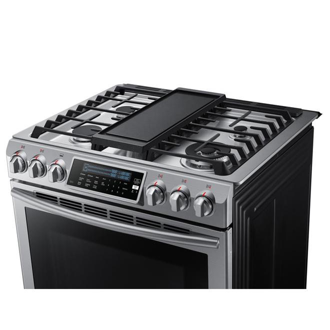 Cuisinière à gaz, 5,8 pi³, acier inoxydable