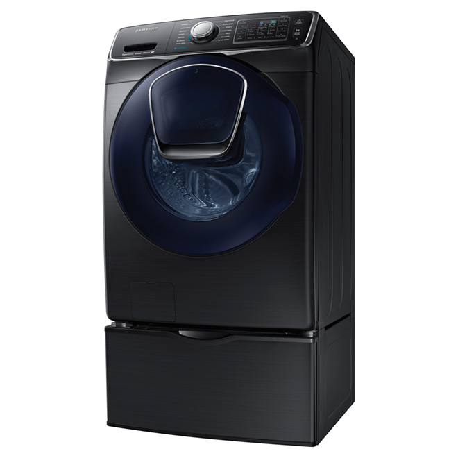 Front Load Washer with AddWash -5.2 cu.ft -Black Steel