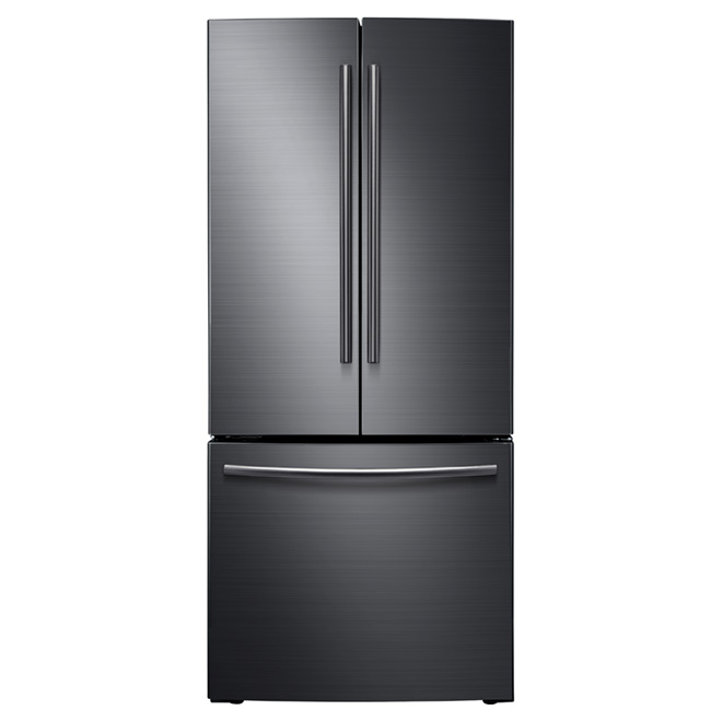 """French Door Refrigerator - 30"""" - 21.6 cu. ft. - Black Steel"""