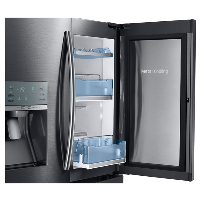 French Door Refrigerator 28 cu. ft. - Black Steel