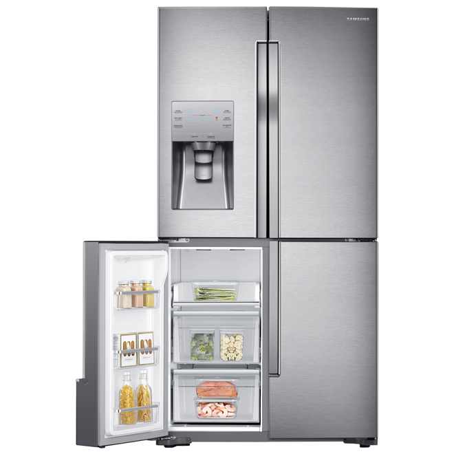 "French-Door Refrigerator -36"" -22.5 cu. ft. -Stainless Steel"