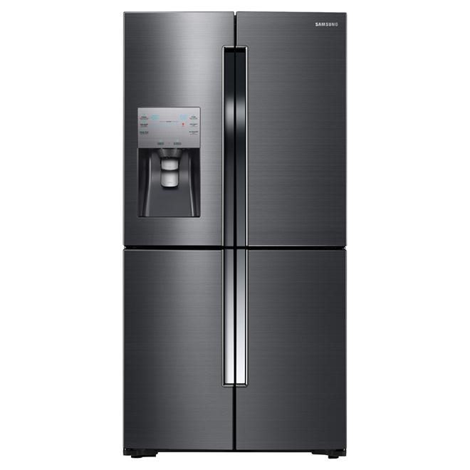 """Réfrigérateur à portes françaises 36"""", 22,5 pi³, acier noir"""