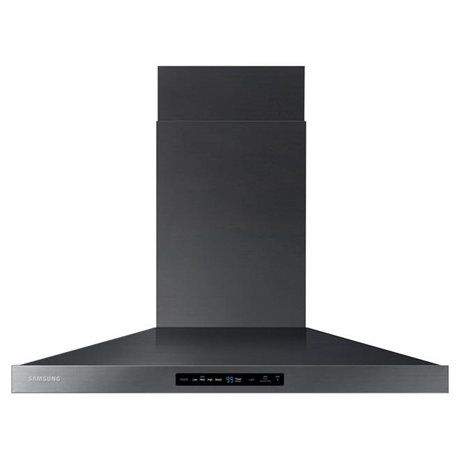 "Wall Range Hood 36"" - Wi-Fi - 600 CFM - Black Steel"