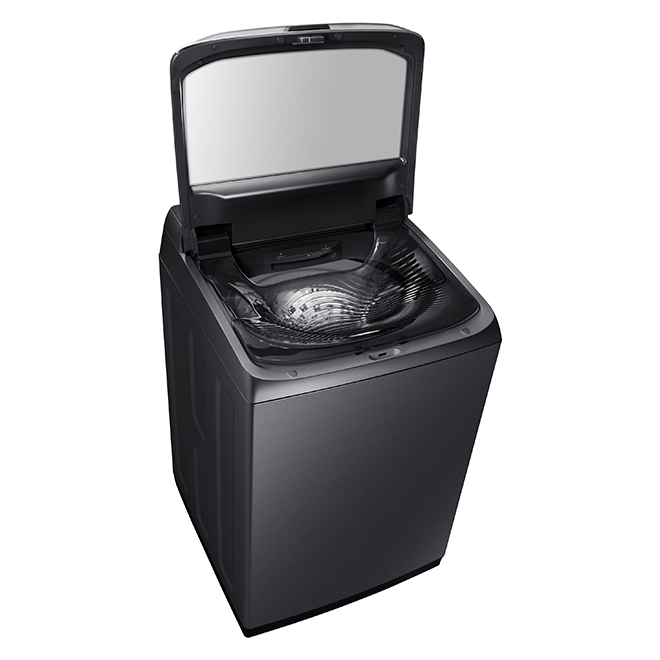 Washer with Steam Wash Cycle - 6.2 cu. ft. - Black Stainless