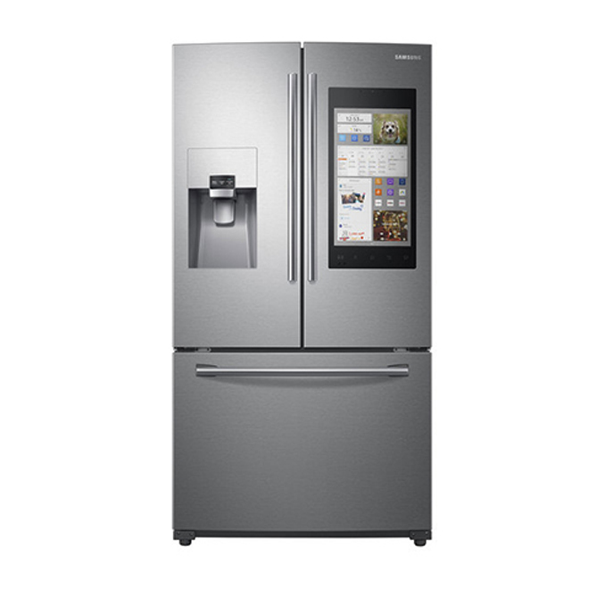 French-Door Refrigerator - Touchscreen -24 cu. ft. -Stainless