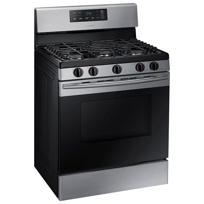Cuisinière au gaz non encastrée, 5,8 pi³, inox
