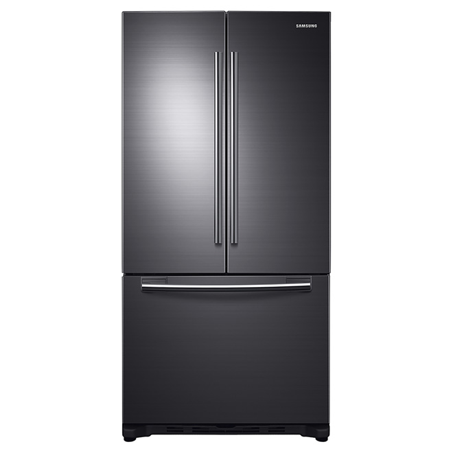 "French-Door Refrigerator - 33"" - 18 cu. ft. - Black Stainless"