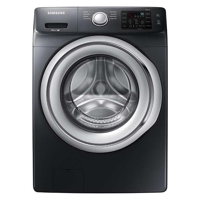 "Front Load Washer - 5.2 cu. ft. - 27"" - Black SS"