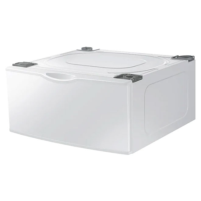 """Pedestal with Storage Drawer - 14.19"""" x 27"""" x 28,31"""" - White"""