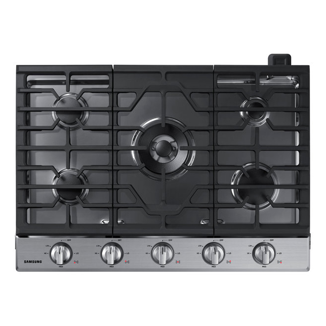 """Surface de cuisson au gaz, 56 000 BTU, 30"""", acier inoxydable"""