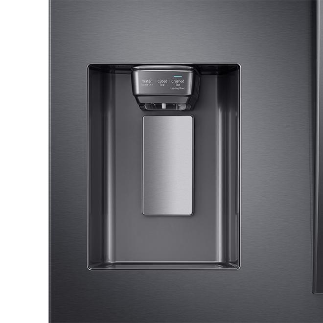 "Premium Refrigerator - 4 Doors - 36"" - 22.6 cu. ft. - Black SS"