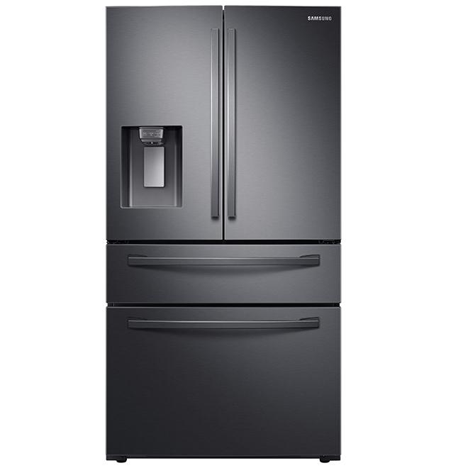 """Réfrigérateur 4 portes Premium, 36"""", 28 pi³, inox noir"""
