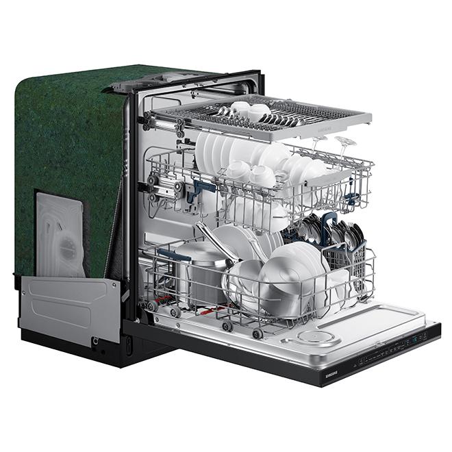 "Lave-vaisselle Samsung avec StormWash, 24"", 48 dBA, inox noir"