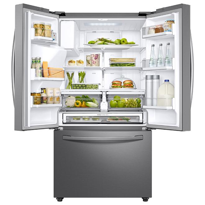 Réfrigérateur avec connectivité Wi-Fi, 28,5 pi³, acier inoxydable