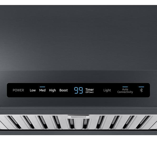 """Hotte sous-armoire Samsung avec Wi-Fi, 600 PCM, 36"""", inox noir"""