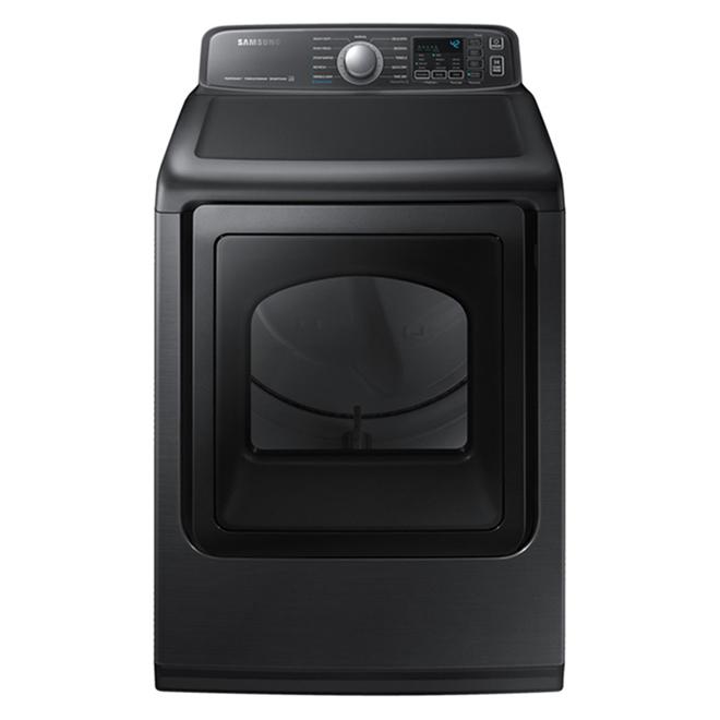 Samsung Electric Dryer - Sensor Dry - 7.4 cu. ft. - Black SS