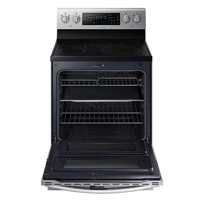 Cuisinière électrique autonettoyante de Samsung, four 3-en-1, 5,9 pi³, 30 po, acier inoxydable