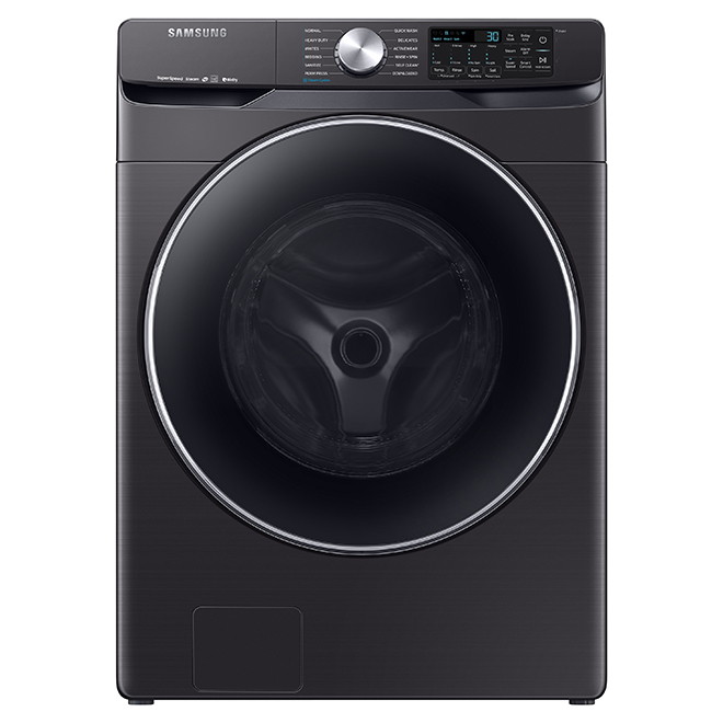 "Samsung 27"" Front-Load Washer - 5.2 cu. ft. - Black SS"