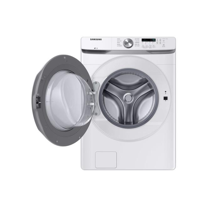 """Laveuse à chargement frontal Samsung avec technologies Smart Care et VRT+, 27"""", 5,2 pi³, blanche"""