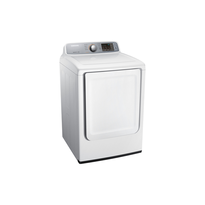 "Samsung Electric Dryer - 27"" - 7.4 cu ft - Sensor Dry - White"