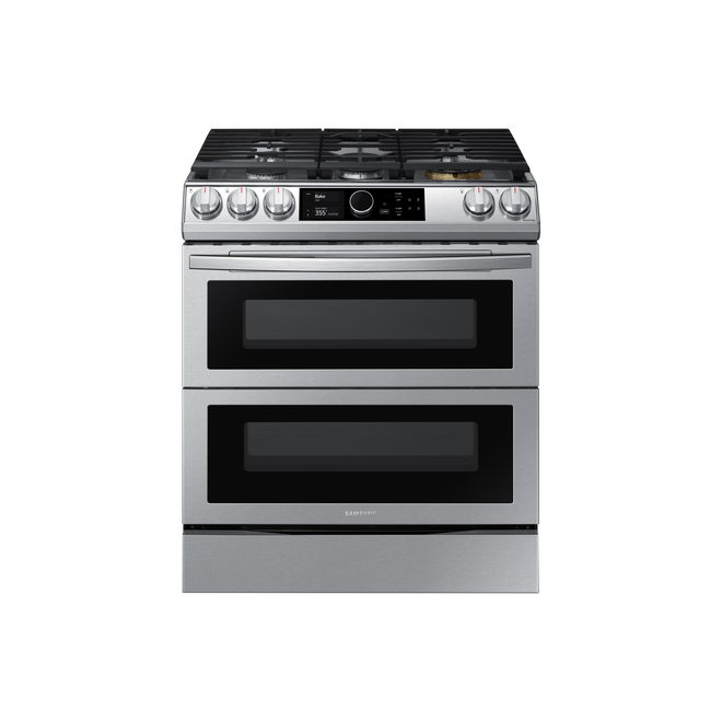 Samsung Slide-in Dual Fuel - Air-Fry - Intelligent - True Convection - Freestanding - 6.3 cu. ft. - Stainless Steel