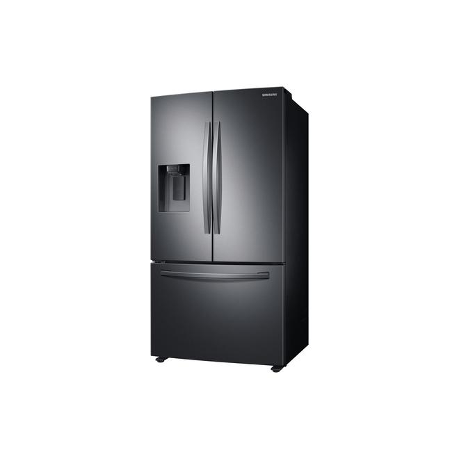 Réfrigérateur Samsung, 3 portes françaises, 27 pi³, acier inoxydable noir
