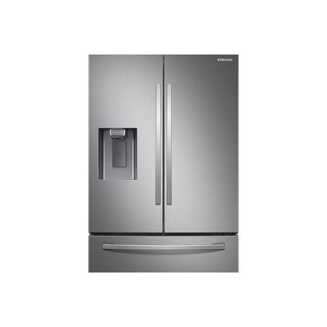 Réfrigérateur intelligent Samsung, 3 portes françaises, 26,5 pi³, acier inoxydable, FamilyHub, Energy Star