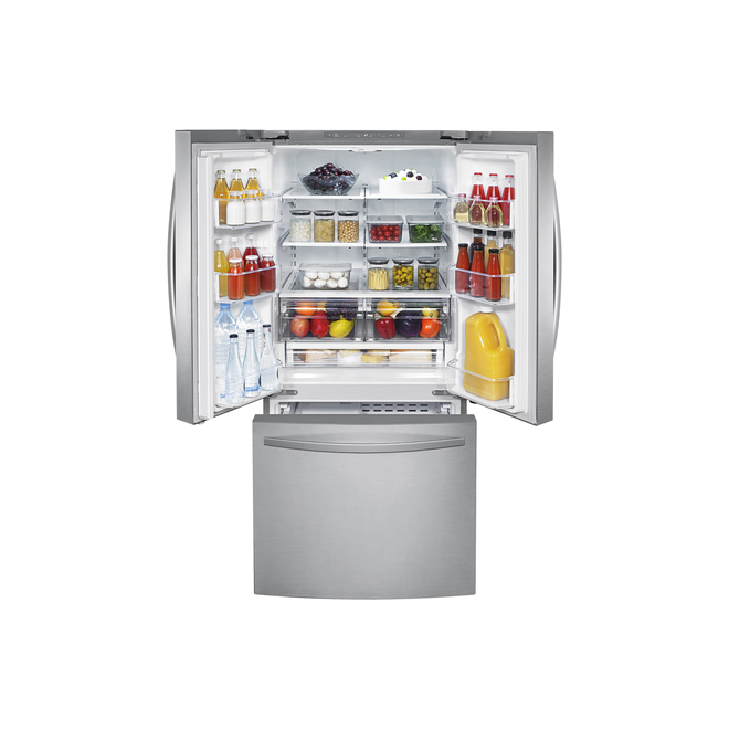 Réfrigérateur Samsung à portes françaises, 21,8 pi³, 30 po acier inoxydable
