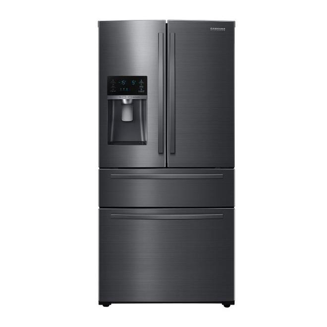 Samsung Refrigerator with FlexZone Drawer and External Water Dispenser - 24.7 cu. ft. - 33-in - Black Stainless Steel