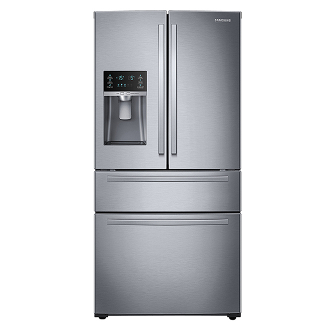 Samsung Refrigerator with FlexZone Drawer and External Water Dispenser - 24.7 cu. ft. - 33-in - Stainless