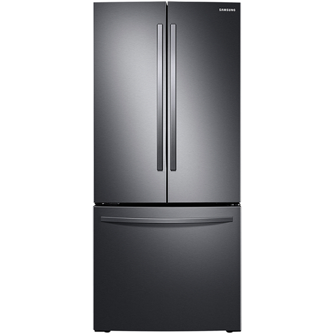 Samsung French Door Refrigerator with Convertible Drawer - 21.8 cu. ft. - 30-in - Black Stainless Steel