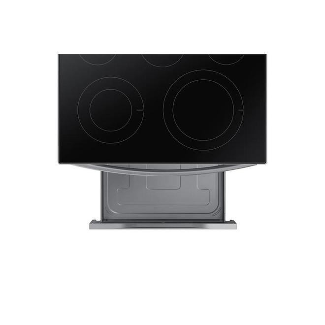 Cuisinière à convection autoportante Samsung avec friture à air et connexion WI-Fi, 30 po, acier inoxydable