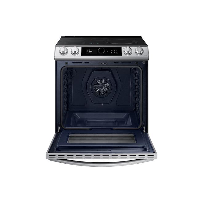 Cuisinière à induction encastrée Samsung avec friture à air et connectivité WI-Fi, 30 po, acier inoxydable