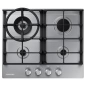 Surface de cuisson au gaz Samsung de 24 po à 4 brûleurs, acier inoxydable