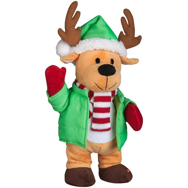 Animated Reindeer Plush Figurine