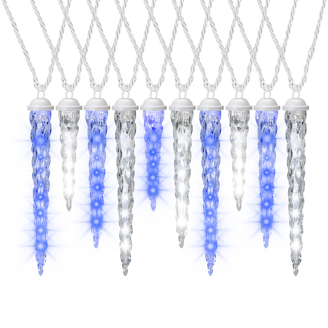 Shooting Star Light String - 10 LED Lights - Blue/White