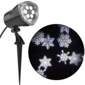 Stake Light Projector - LED - Snowflakes - White