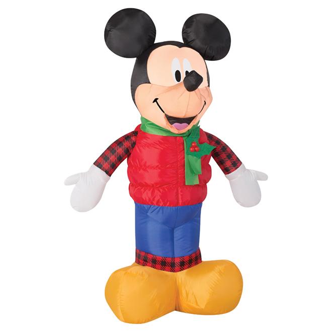 """Décoration d'extérieur gonflable et illuminée, 42 1/8"""", Mickey"""