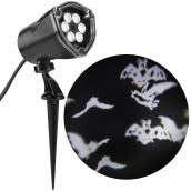 Halloween Outdoor LED Projector - White Patterns - Black
